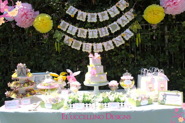What a pretty dessert table