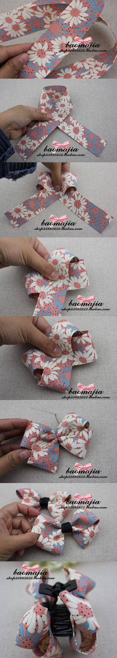 Fabric bow hair accessories