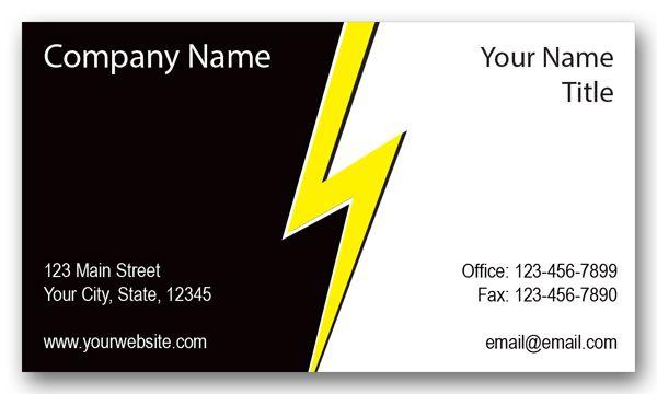 Electrical Company Lightning Business Card   Business, Lightning ...