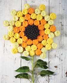 Sunflower cupcake cake.
