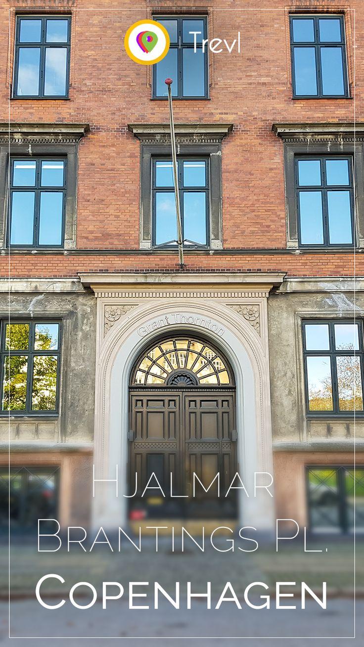 Massive entrance at Hjalmar Brantings Plads in eastern Copenhagen in Denmark