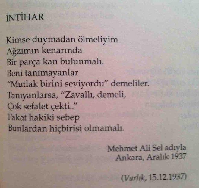 İntihar - Orhan Veli