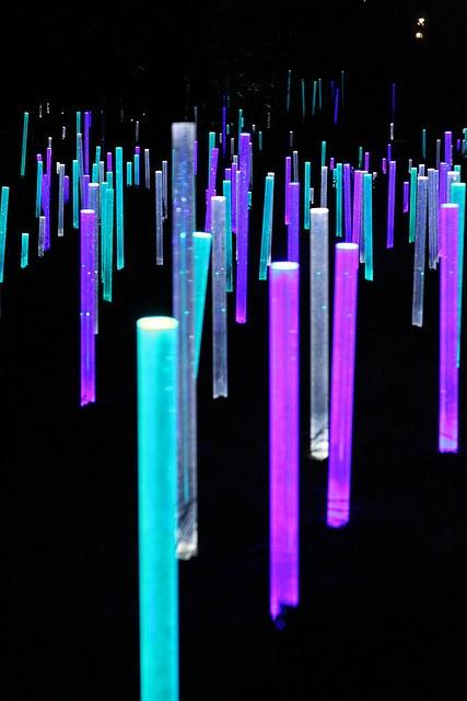 Light installation, Paris