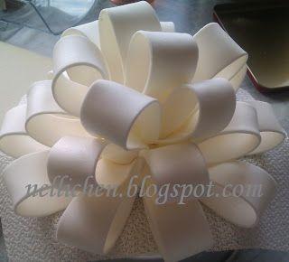 Anleitung Schleife aus Blütenpaste, Tutorial Gumpaste Bow