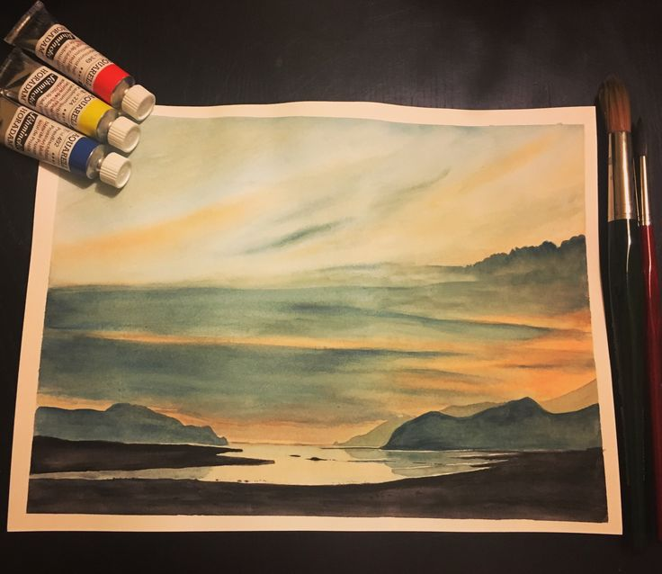 Aquarel watercolor painting inspired by rob piercy, wales