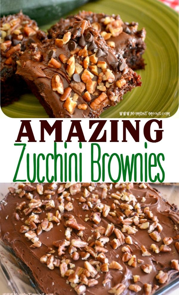 Amazing zucchini brownies are a delicious way to use up that extra zucchini from the garden! So incredibly moist and delicious!| MomOnTimeout.com