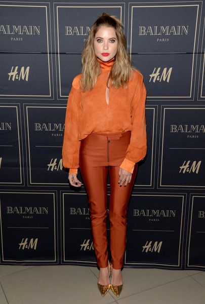 Actress Ashley Benson attends the Balmain x H&M Los Angeles VIP Pre-Launch on November 4, 2015 in West Hollywood, California.
