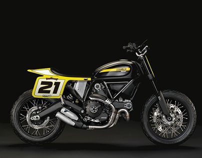 """Check out new work on my @Behance portfolio: """"Ducati 800 Scrambler Flat track"""" http://be.net/gallery/62871931/Ducati-800-Scrambler-Flat-track"""