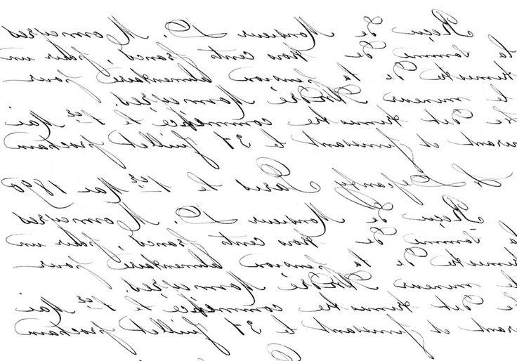 Francés imprimir Transferencia de escritura a mano