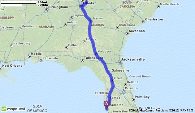 Official Mapquest Maps Driving Directions Live Traffic >> Driving Directions from Sarasota, Florida 34234 to
