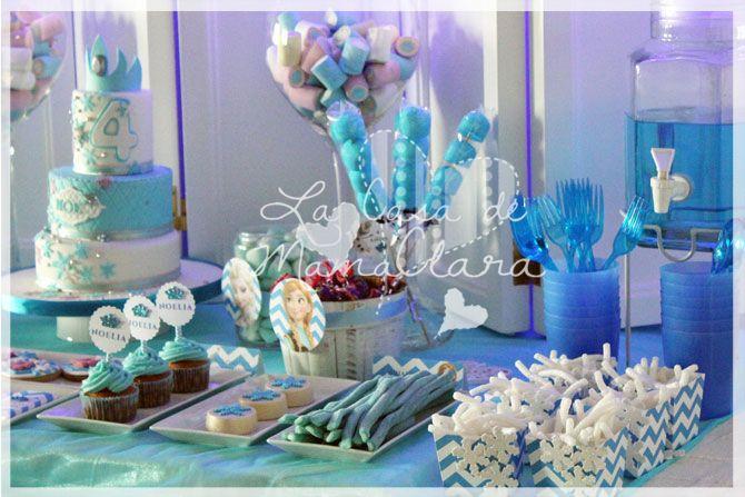 Tarta y Cupcakes para la mesa dulce de Forzen
