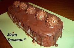 Φανταστικόμωσαϊκόμε merenda απότη Σοφη Τσιώπου Κορμός με 3 υλικά της φίλης μου Maria Ntelimara!!! Εγώ πρόσθεσα σοκοφρετες και σοκολατάκια Φερέρο Ροσσέ. Ετσι έφτιαξα τον κορμό του »Πρέσβη»!!! ΚΟΡΜΟΣ ΤΟΥ »ΠΡΕΣΒΗ» ΥΛΙΚΑ 250 γρ.κρέμα γάλακτος(κρύα από το ψυγείο) 1 βαζάκι(400 γρ.)μερέντα 1 και μισό πακέτο μπισκότα πτι-μπερ σπασμένα σε κομματάκια 3 σοκοφρέτες θρυμματισμένες σοκολατάκια Φερέρο …