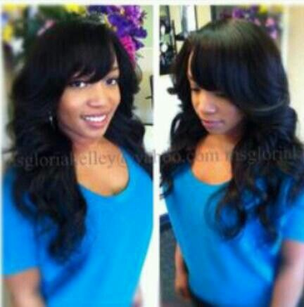 Sew in with bang