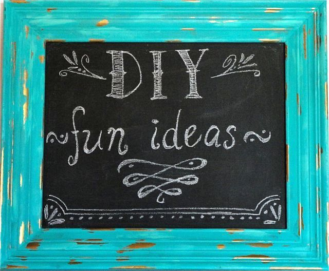 Refinish An Old Picture Frame And Turn It Into A Fun Chalkboard ..............FOLLOW DIY Fun Ideas!...........BEST DIY SITE EVER!!