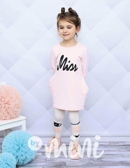 Miss pink tunika - By Mini - moderní oblečení pro děti