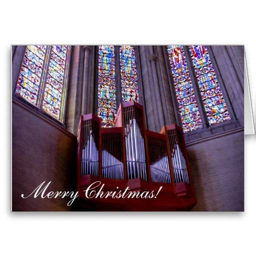 Grace Cathedral organ Christmas greeting card
