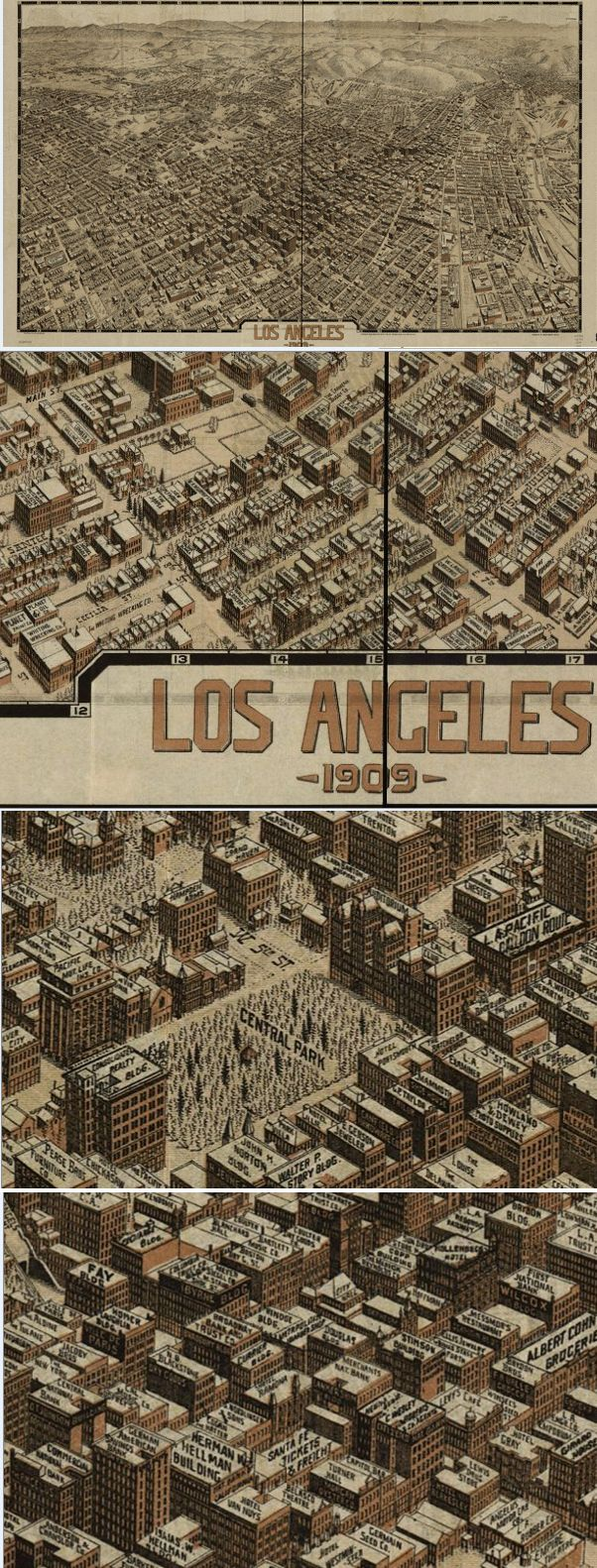 Best Antique And Vintage Wall Maps Images On Pinterest - Vintage los angeles map poster
