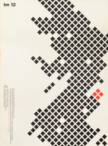 cover design for Typographische Monatsblätter, 1959.12
