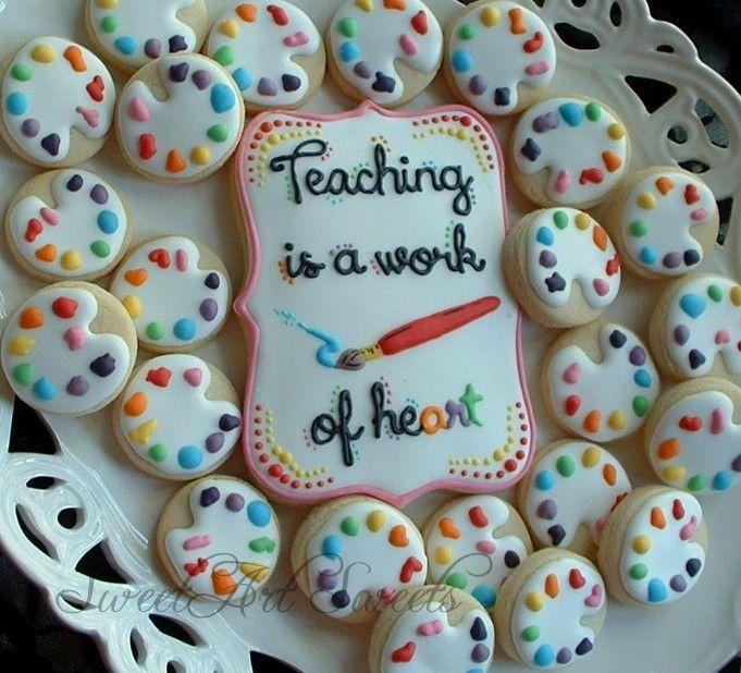 Teaching is a Work of Heart Cookies