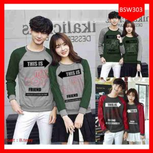 Fashion Sweater Couple This Is My Boy Terbaru