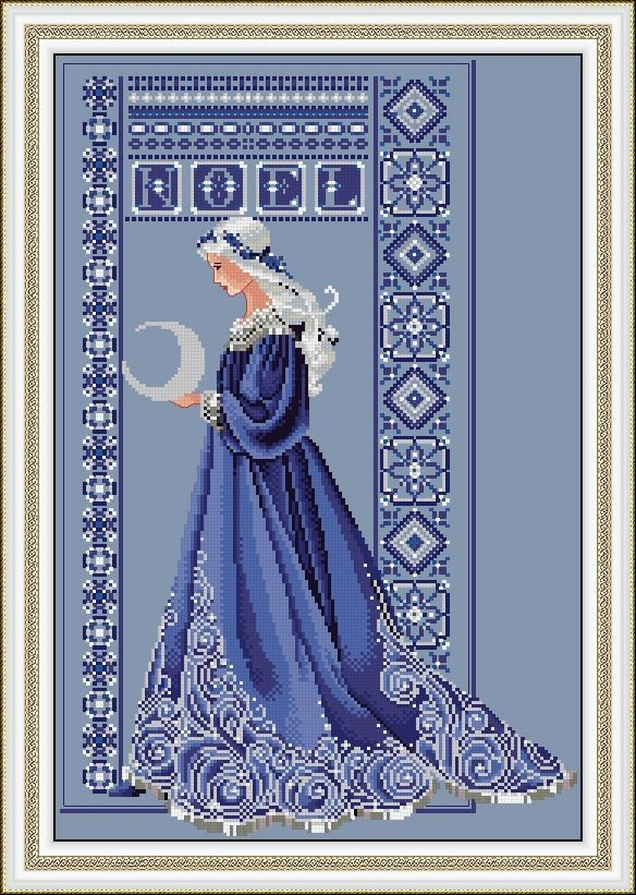 "GRAFICOS MIRANDA - complete charts on board ""Cross Stitch - (2) Fairies, elves . ."""