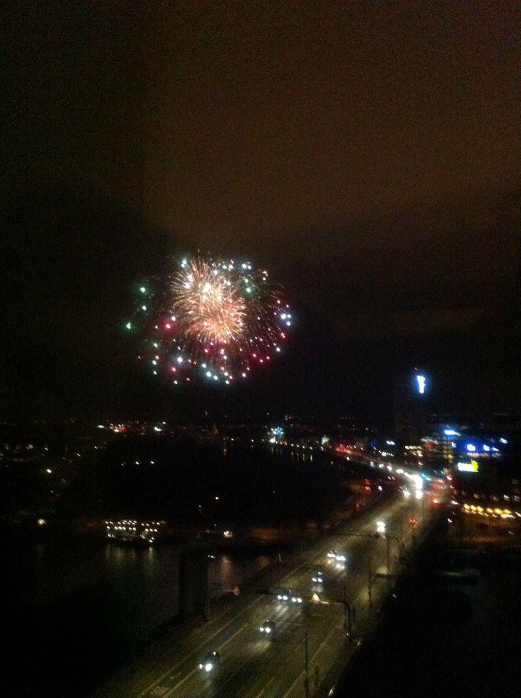 Fireworks over Copenhagen