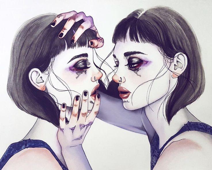 harumi hironaka sensual sad illustrations
