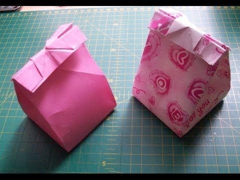Как сделать из бумаги подарочный пакет оригами своими руками - YouTube