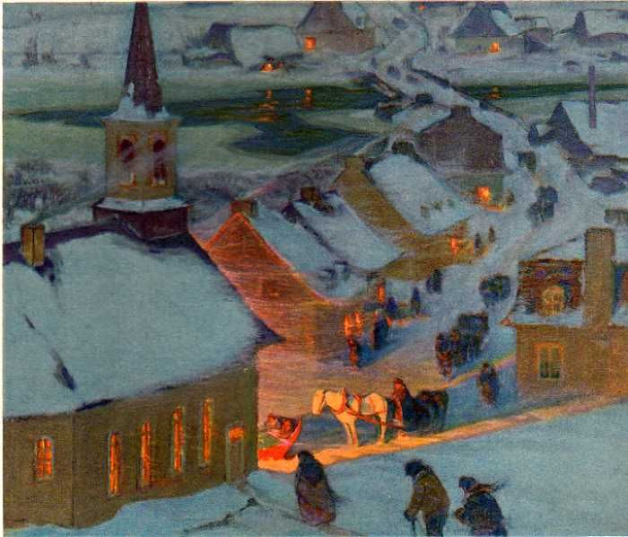 Canadian painter Clarence Gagnon.