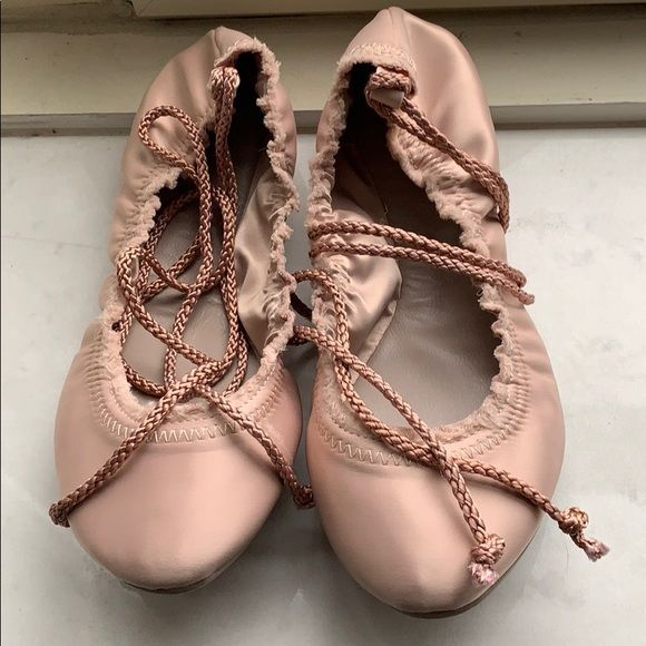 160543741 Joie Shoes - Joir Satin Ballet Slippers Mushroom | Shoes in 2019 ...