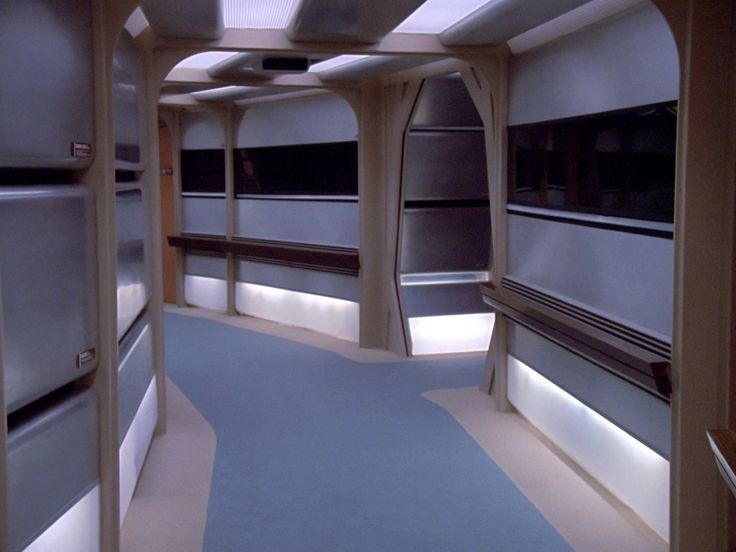 Corridor Of U S S Enterprise Ncc 1701 D Star Trek U S