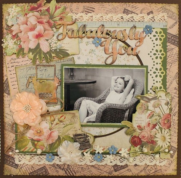 Fabulously You - single page from Paper Roses Scrapbooking ♥ ♥ ♥