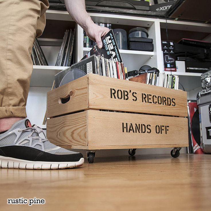 Personalised Record Storage Crate