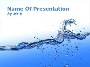 Modèle Powerpoint Flux d'eau bleue