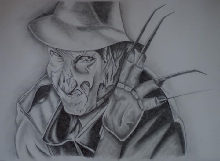 Freddie Kruger Pencil Drawing