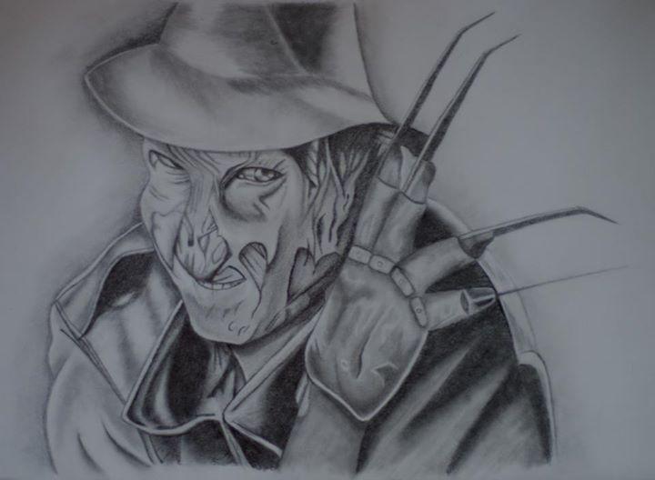 Freddie Kruger Pencil Drawing