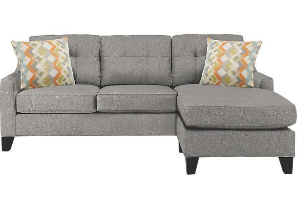 Super Cindy Crawford Home Madison Place Gray 2 Pc Sectional Grey Andrewgaddart Wooden Chair Designs For Living Room Andrewgaddartcom