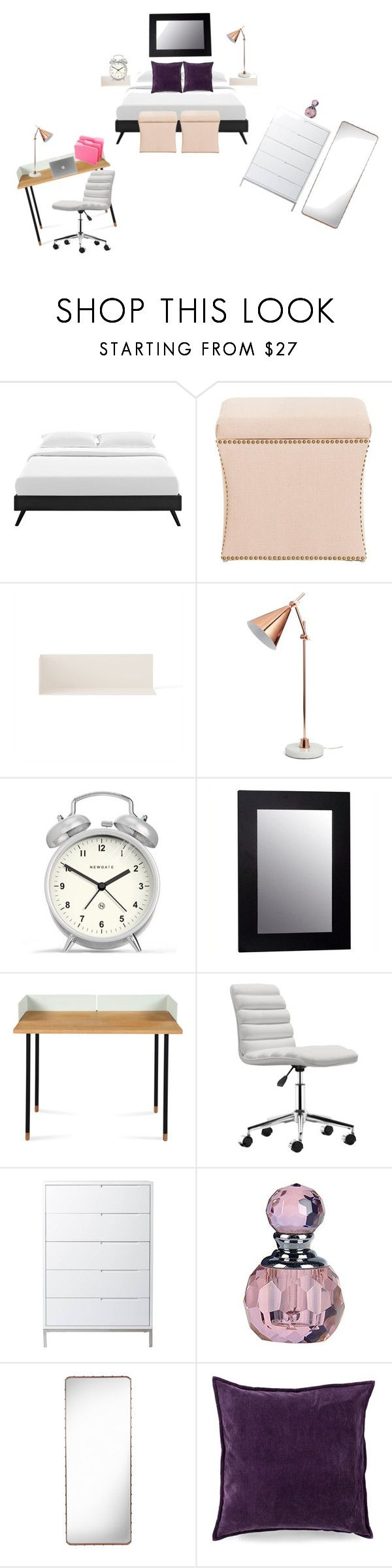 """""""bedroom"""" by daniele-sing on Polyvore featuring interior, interiors, interior design, home, home decor, interior decorating, Grandin Road, Menu, Crystal Art and Newgate"""