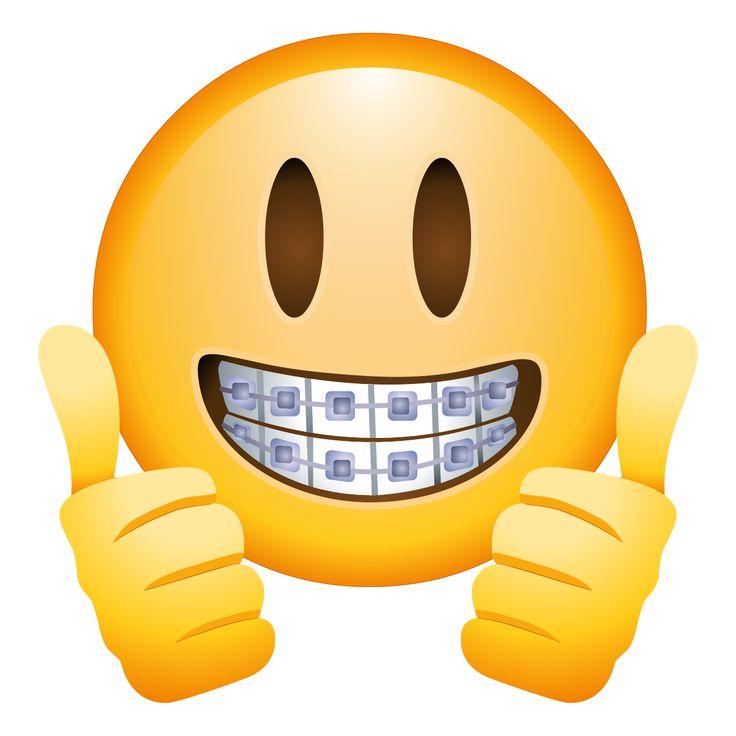 Emoji With Braces Aparelho No Dente Dentista Engracado Imagens De Emoji