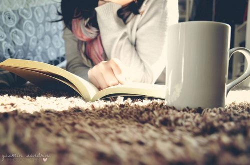 good book & cup of coffee