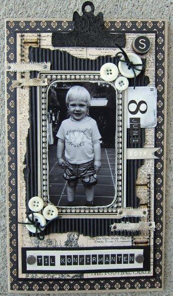 min lille scrappe-verden: Konfirmantkort til gutt