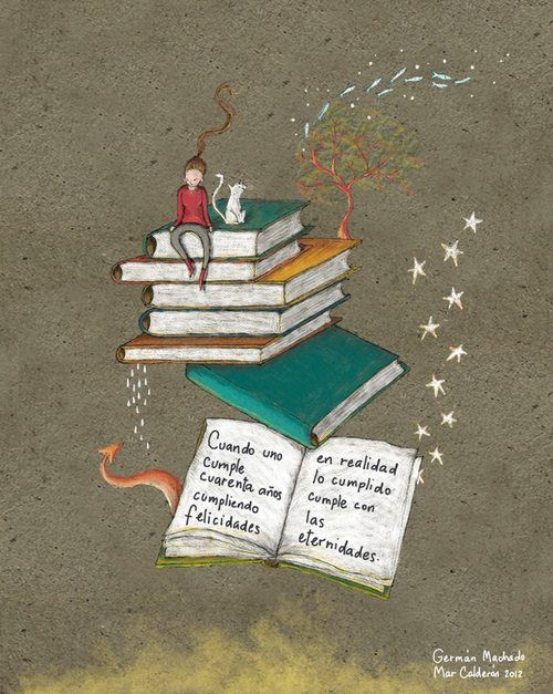 Growing with reading / Creciendo con la lectura (ilustración de Marcela Calderón)