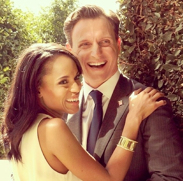 TV Guide photo shoot outtake: Kerry Washington and Tony Goldwyn of the ABC series Scandal.