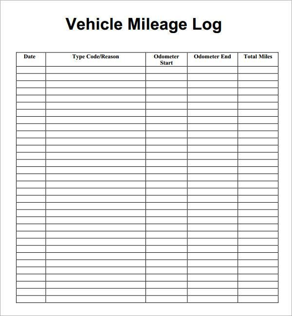 Mileage Log Template Pdf Mileage Tracker Mileage Tracker Printable Mileage Log Printable