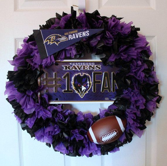 Baltimore Ravens Wreath Ravens Wreath by DaraJDecor on Etsy