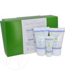 Kinerase Clear Skin Starter Kit for Oily/Acne-Prone by KINERASE. $68.00. guaranted best price! guaranted seller!!. Kinerase Clear Skin Starter Kit includes a perfect blend of products for oily, acne prone skin. Banish shine upon application with Clear Skin Moisture Light, a perfect balance of moisture for shiny, irritated skin. Along with this light weight moisturizer comes a treatment serum, to help minimize break outs while helping to visibly calm and smooth the skin. Perfect...