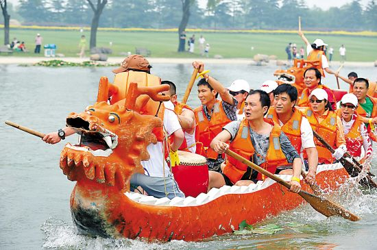 In Singapore, they dragon-boat race seriously