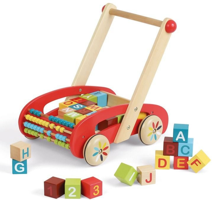 Janod-Wooden Toys for Kids-ABC Walker