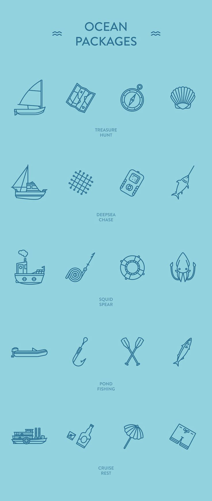 Ocean Packages - Free icon sets on Behance