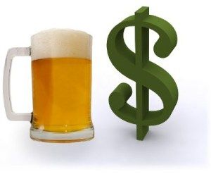 The tax structure explained in beer, explaining the Laffer Curve